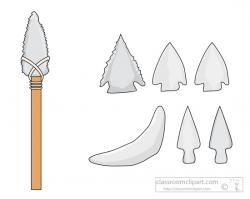 Spear clipart stone age