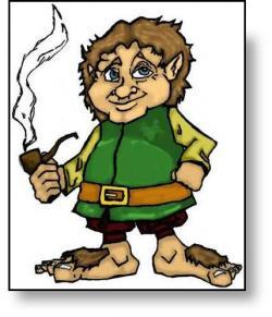 Bilbo Baggins clipart hobbit