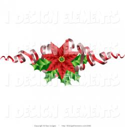 Poinsettia clipart holly