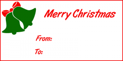 Poinsettia clipart christmas gift tag