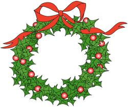 Wreath clipart holly wreath