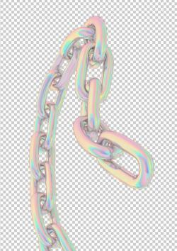 Vaporwave clipart gold chain