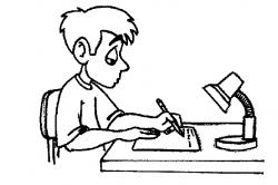 Homework clipart black and white
