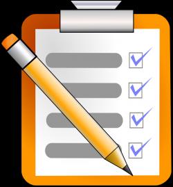 Check clipart checklist