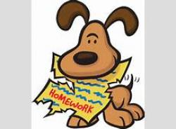 Homework clipart dog eats