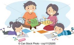 Homework clipart family