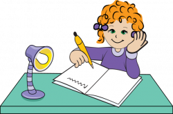 Homework clipart handwriting