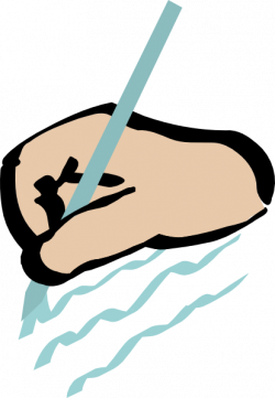Moving clipart writing