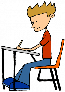 Student Sitting Clipart