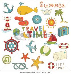 Travel clipart summer holiday