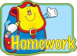 Homework clipart holiday homework