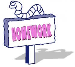 Homework clipart homework book