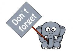 Elephant clipart reminder
