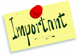 Message clipart important note