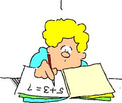Homework clipart math homework