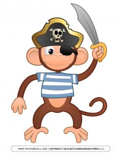 Pirate clipart pirate monkey