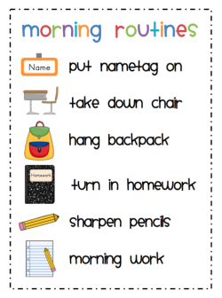 Homework clipart morning work