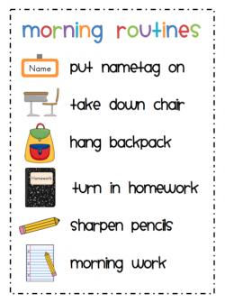 Homework clipart morning work