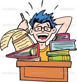 Homework clipart overwhelmed student