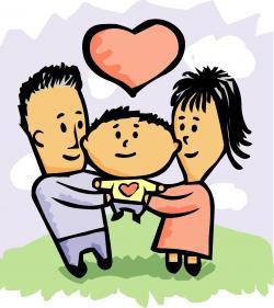Kisses clipart parent child