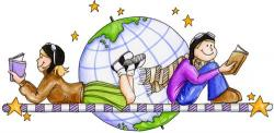 Library clipart reading and writing