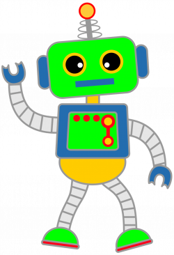 Robot clipart simple
