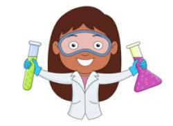 Laboratory clipart female scientist