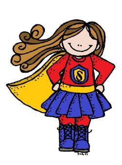 Super Girl clipart supe student