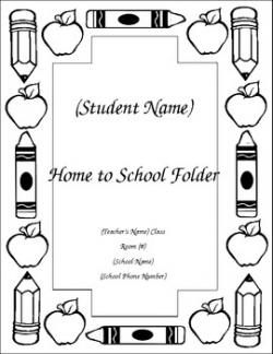 Homework clipart take home folder