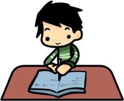 Homework clipart writing story