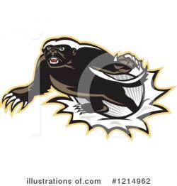 Honey Badger clipart fierce