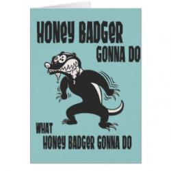 Honey Badger clipart hony