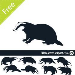 Honey Badger clipart spanish