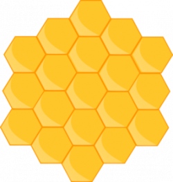 Bee Hive clipart honeycomb