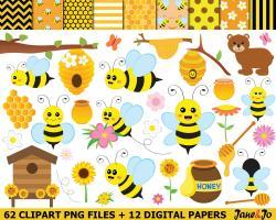 Bee clipart bee honeycomb