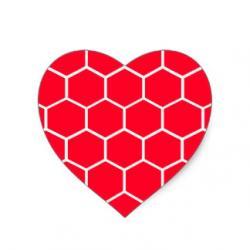 Honeycomb clipart heart