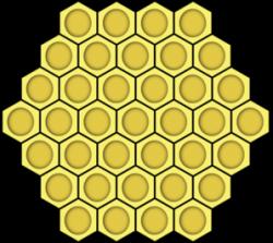 Honeycomb clipart vector