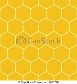 Honeycomb clipart yellow