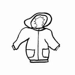 Hood clipart black and white