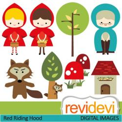 Red Riding Hood clipart hungry wolf