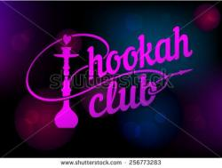 Hookah clipart neon