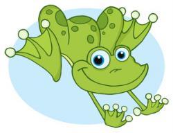 Bullfrog clipart jumping