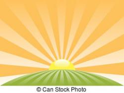 Sunbeam clipart rising sun