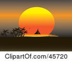 Horizon clipart setting sun