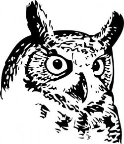Great Horned Owl clipart free bird