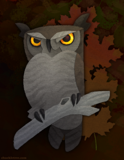 Great Horned Owl clipart halloween