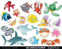 Marine Life clipart sea animal