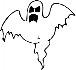 Horror clipart black and white