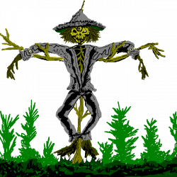 Scarecrow clipart creepy