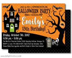 Horror clipart halloween birthday